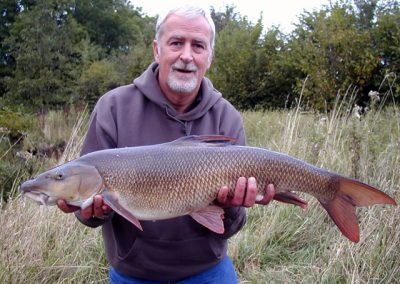 S Dwyer with Barbel Record